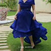Neue Ankunft Saudi-arabien Abendkleid Grün Royal Blue High Low Formale Pageant Party Kleid Nach Maß Plus Größe