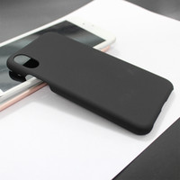 Wholesale Double Sided Iphone Case - Free shipping retail for iphone8 case iphone 8 case PC spray double side black hard cellphone case