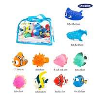 Wholesale Baby Plastic Bath Tub - 10pcs Bath Toys Kawaii Cute Baby Shower Toys Speelgoed Kids Float Water Tub Rubber Water Squirting for Kids Baby