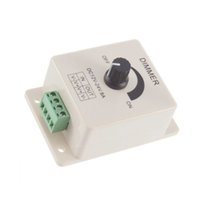 reguladores de luz 12v al por mayor-Reguladores de luz LED de 12V 8A Rotary Dimmer Switch Brillo de 0% a 100% Color único ajustable para luces LED Tiras Dimmer