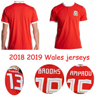 8f6f8b64ab6 Soccer Men Short 2018 Wales soccer Jerseys 2018 19 home Jersey BALE RAMSEY  WARD ALLEN DAVIES