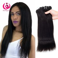 Chromodian Human Hair Straight Weave Bundles 4pcs / lot Wow Queen Hair Prix de gros bon marché Soft and Thick Cambodgian Vrigin Hair Extensions
