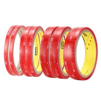 Gran venta !! 3M VHB 4905 Rojo Color Doble cara Transparente Acrylic Foam Adhesive Tape Long 2M