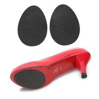 ayakkabı tek koruyucusu toptan satış-Ön ayak Yüksek Topuklu Siyah Sticker Flats Stiletto Onarım Ön Ayak Pedi Astarı Nemli Yerleşimler Ayakkabı Yarım Taban Koruyucu