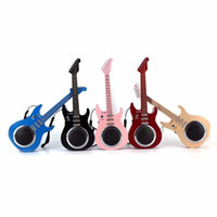 Wholesale Mic For Guitar - 2017 Universal New mini guitar bluetooth speaker TF USB Wireless Portable Music Sound Box Subwoofer Loudspeakers with Mic for iOS Android