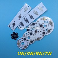Wholesale Empty Boards - Wholesale- 50 PCS LED High Power Lumen PCB Board Panel Aluminum Heatsink Base 1W 3W 5W 7W for LED Bulb Lamp Grow Light DIY Empty PCB