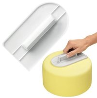 spatule fondant achat en gros de-Gâteau en plastique lisse crème chaude lissage polisseuse Fondant sucre Artisanat gâteaux Spatulas bricolage maison cuisson outil de base 1 2my F
