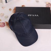 Wholesale european men hats - High quality canvas men and women hats outdoor sports leisure headdress European style designer sun hat luxury brand caps with box