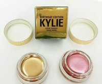 Wholesale Eye Shadow Cream Singles - Kylie Jenner Kit birthday Edition eyeshadow cream Cosmetics eye shadow Kyshadow eyebrow brand naked makeup Long-lasting copper rose gold