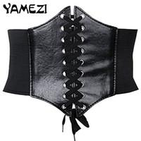 Wholesale Thin Waist Tie Belt - Wholesale- [YAMEZI] Hot 2017 Vintage Female Accessories Slim thin waist belt tied waist Straps Wide Waistband For Women FT006