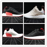 Wholesale Gyms Pictures - Real picture black NMD CS2 PK Boost R2 Authentic Running Sneakers Fashion Running Shoes NMD R2 PrimeKnit Real Boost Sneakers 2018 size 36-45