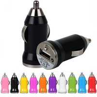 Wholesale Iphone Mini Power - 100pcsColorful Mini 5V 1A USB Car Charger Power adapter adaptor for iphone 4 5 6 for samsung mp3 gps