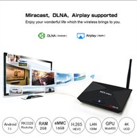 Wholesale Android Quad Band Wifi - Genuine A5X Pro Android 7.1 TV BOX Rockchip RK3328 2GB 16GB 2.4G 5G dual band WIFI BT4.0 USB3.0 supported 4K Smart TV BOX