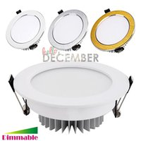 Wholesale Super Bright Ceiling Light - Super Bright LED Ceiling Light Downlight Dimmable 9W 12W 15W 18W 21W 30W Recessed LED Ceiling Lamps AC 110-240V