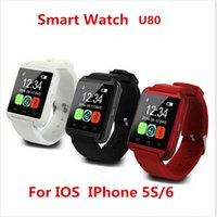 Wholesale Camera Drink - 2017 Hot sale U8 Smartwatch Bluetooth Watch Drink Clock Passometer Touch Screen Answer and Dial the Phone with retail box