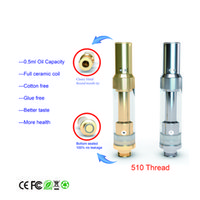 Wholesale E Cigarette Tank Glass - Top quality adjust airflow E cigarette oil cartridge vape green oil glass tank CO2 Oil CE3 atomizer Touch O pen wax Ceramic coil