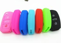 Wholesale audi sq5 online - silicone car key fob cover case skin for Audi A1 A2 A3 A4 A5 A6 A7 TT Q3 Q5 Q7 R8 S6 S7 S8 SQ5 RS5 flip folding remote protected
