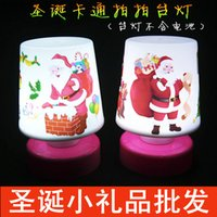 Wholesale Diy Promotional Gifts - Christmas cartoon pat desk lamp Birthday promotional advertising creative gift street ring of Christmas