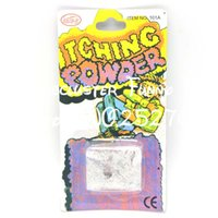 Wholesale Novelty Powders - Wholesale- JIMMY BEAR 3 Pcs Set Trick Itching Powder Funny April Fool Joke Novelty Funny Gags Trick Toys