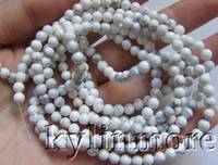 Wholesale Howlite Beads Round 6mm - 8SE09275a 3 strands 4mm 6mm howlite Round Beads 15''