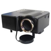 mini proyector av portátil vga al por mayor-Al por mayor- Multimedia Proyector LED HD UC28 Home Theater Mini Proyector portátil Soporte 1080P HDMI AV-en Video VGA HDMI USB SD