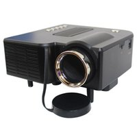 projetor de vídeo led mini venda por atacado-Venda por atacado - Multimedia Projetor LED HD UC28 Home Theater Mini Suporte Projetor Portátil 1080p HDMI AV-in Vídeo VGA HDMI USB SD