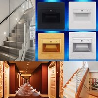 0.6W Sound and Light Control Aisle Bar Led Footlight Step Scale Zoccolo a parete LED incassato LED lampada intelligente Hallway Porch Night Lights