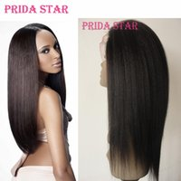 Wholesale Indian Virgin Human Hair Wigs - Prida Star Lace Front Wig Malaysian Virgin Hair Yaki Straight Full lace Wig Glueless Human Hair Wigs Malaysian Free Shipping