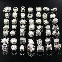 pandora tibetano de plata al por mayor-Wolesale Estilos mixtos de cuentas de plata tibetana Fit Pandora Original pulsera de joyería de mujer