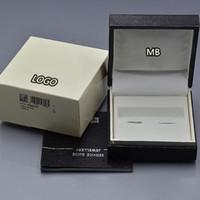 boites de noël en bois achat en gros de-Boîte de boutons de manchette de luxe MB pour boîte à boutons de manchette en bois noir de qualité supérieure