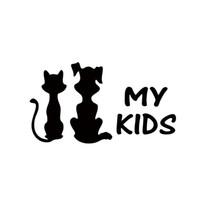 ingrosso nuove decalcomanie auto carine-2017 vendita calda carino grafica cool i miei bambini gatto e cane nuovo design auto adesivo finestra vinile camion decalcomania Jdm