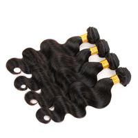 Wholesale Raw Unprocessed Extensions Wholesale - Raw Virgin Indian Hair Body Wave 4 Bundles Indian Body Wave Hair Extensions Unprocessed Brazilian Peruvian Virgin Human Hair Weave Bundles