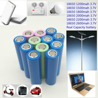 Wholesale Real Flashlights - Cheap price 18650 battery cell 1200mah to 2600mah high real capacity 18650 for the power flashlight