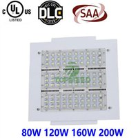Wholesale Wholesale Canopy Led Lighting - CE UL Gas station Led Canopy Light 80W 120W 160W 200W 100-277V Parking Lot LED lights Outdoor Retrofit Lighting for Lamp Floodlight 888
