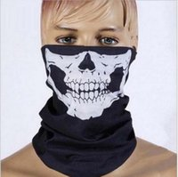ingrosso inverni maschera di protezione-Halloween Skull Skeleton Party Masks Black Motorcycle Multi Function Headwear Cappello Sciarpa Collo Spaventoso Sport Face Winter Ski Mask