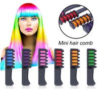 Wholesale Temporary Hair Color Chalk Wholesale - Hair Color Fashion Permanent Chalk Powder With Comb Temporary Hair Mascara Multicolor Dye Hair Styling Make UP Tool ouc482