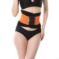 Wholesale Adjustable Belts For Men - Hot New Women Men Adjustable Waist Trainer Trimmer Belt Fitness Body Shaper For An Hourglass Shaper (Black Pink Green Blue Yellow orange )