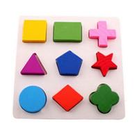 divertidos puzzles 3d al por mayor-Rompecabezas de madera estéreo para niños de 2-4 años rompecabezas de rompecabezas 3d juguetes educativos para niños juegos de aprendizaje carta de diversión