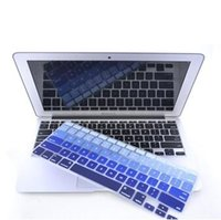 US Version morbido silicone gradiente di caso Colori tastiera Protector Cover per MacBook Pro Retina Air 13 15 17 antipolvere impermeabile Sticker
