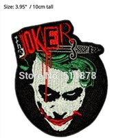 Batman Heath Ledger der Joker warum so ernst Dark Knight Film TV-Serie gesticktes Eisen auf Patch MARVEL COMICS APPLIQUE