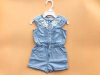 Wholesale Denim Jumpsuit 12 - New Baby Jeans One Piece Romper Baby Girl Wear O Neck Denim Jumpsuit Children Kids Clothing