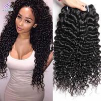 brasileiro virgem pode tingir venda por atacado-Brasileira Feixes de Cabelo Virgem Brasileiro Kinky Curly Hair 4 feixes de Cabelo Humano Tece Preto Natural Pode ser Tingido e Branqueada