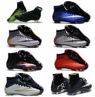 Wholesale Cheap Ronaldo Football Boots - New Football Boots Mercurial Superfly CR7 Soccer Cleats Mens Soccer Shoes Cheap Cristiano Ronaldo Soccer Boots 2017 Football Cleats For Men
