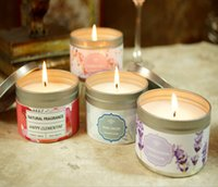 Wholesale candle waxing resale online - TNT FREE lavendar peony cottom lily clementine and honey Scented Ounce Candle Parrafin with palm and soy wax wedding