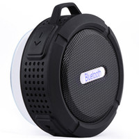 Wholesale Portable Speaker Boombox - New C6 Bluetooth Speaker Portable Wireless Waterproof Shower Speakers Handsfree with Mic Suction Cup Music Mini Boombox