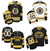 Wholesale Boston Prices - Lowest Price ! Customized Boston Bruins Jerseys Black White Custom Ice Hockey Jerseys cheap Stitched Any Name Number Size M-XXXL