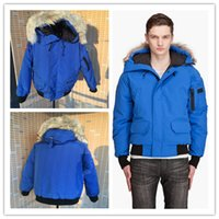 Wholesale Gold Goose - 2016 New Men's Goose down jacket Coat Fur Goose Men Chilliwack Parka fur jacket and the size of the coat cotton male hooded casual