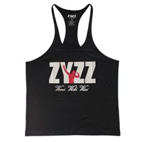 Wholesale Zyzz Singlet - Tank Top Men ZYZZ Fitness Singlets Bodybuilding Stringer Golds Gyms Clothing Muscle Shirt Vest Sportwear Body Engineers