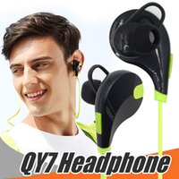 Wholesale QY7 Jogging Headset Wireless Sport Earphone Portable Neckband Noise Cancelling Stereo Headset Bluetooth For Smartphones with Retail Bag