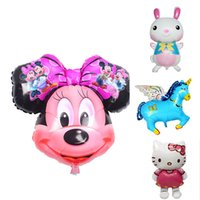 Wholesale Mylar Balloon Toys - Mickey Mouse Birthday Balloons All Style Party Decoration Big Shaped Mylar Balloons Circular Dimensional Balloon Toys For Children